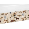 Western Theme Crib Bed Skirt for Wild West Cowboy Bedding Sets