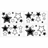 White and Black Hotel Baby and Kids Wall Decal Stickers by Sweet Jojo Designs - Set of 4 Sheets
