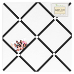 White and Black Hotel Fabric Memory/Memo Photo Bulletin Board by Sweet Jojo Designs