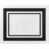 White and Black Modern Hotel Accent Floor Rug by Sweet Jojo Designs