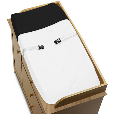 White and Black Modern Hotel Baby Changing Pad Cover by S...