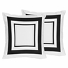 White and Black Modern Hotel Decorative Accent Throw Pillows - Set of 2
