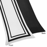 White and Black Modern Hotel Full Length Double Zippered Body Pillow Case Cover
