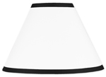 White and Black Modern Hotel Lamp Shade by Sweet Jojo Designs