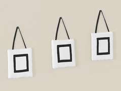 White and Black Modern Hotel Wall Hanging Accessories by Sweet Jojo Designs