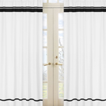 White and Black Modern Hotel Window Treatment Panels by Sweet Jojo Designs - Set of 2