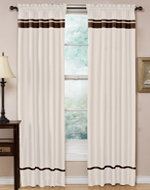 White and Chocolate Spa Collection Window Treatment - Set of 2