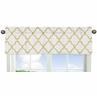 White and Gold Trellis Collection Window Valance by Sweet Jojo Designs