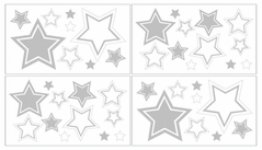White and Gray Hotel Baby and Kids Wall Decal Stickers by Sweet Jojo Designs - Set of 4 Sheets