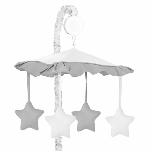 White And Gray Modern Hotel Musical Baby Crib Mobile By
