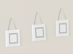 White and Gray Modern Hotel Wall Hanging Accessories by Sweet Jojo Designs