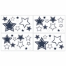 White and Navy Hotel Baby and Kids Wall Decal Stickers by Sweet Jojo Designs - Set of 4 Sheets