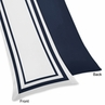 White and Navy Modern Hotel Full Length Double Zippered Body Pillow Case Cover