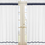 White and Navy Modern Hotel Window Treatment Panels by Sw...