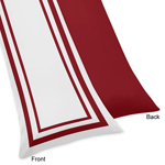 White and Red Modern Hotel Full Length Double Zippered Body Pillow Case Cover by Sweet Jojo Designs