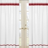 White and Red Modern Hotel Window Treatment Panels by Sweet Jojo Designs - Set of 2