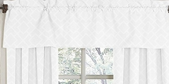 White Diamond Jacquard Modern�Window Valance by Sweet Jojo Designs