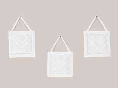White Diamond Jacquard Modern Wall Hanging Accessories by Sweet Jojo Designs