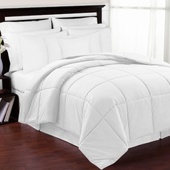 White Down-Alternative Comforter<br> Available in Twin & Queen Sizes