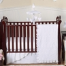 White Eyelet Baby Bedding - 11pc Crib Set