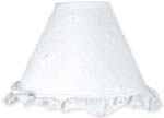 White Eyelet Baby Lamp Shade
