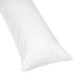 White Eyelet Full Length Double Zippered Body Pillow Case Cover by Sweet Jojo Designs