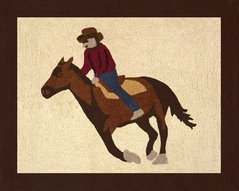 Wild West Cowboy Accent Floor Rug