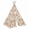Western Theme Indoor TeePee for Toddler and Kids for Wild West Cowboy Collection