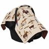 Wild West Cowboy Western Baby Infant Car Seat Carrier Stroller Cover by Sweet Jojo Designs