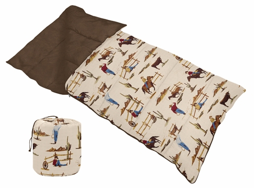 Wild West Cowboy Western Boys or Kids Childrens Toddler Sleeping Bag - Click to enlarge