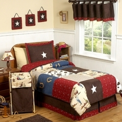 Wild West Cowboy Western Children's Bedding - 3 pc Full / Queen Set