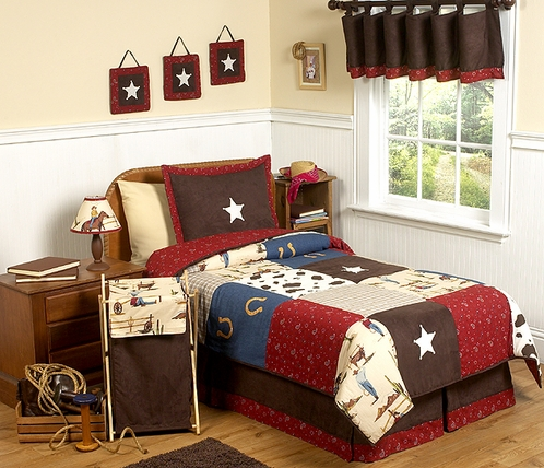 Wild West Cowboy Western Childrens Bedding - 4 pc Twin Set - Click to enlarge