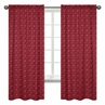Red Banada Window Treatment Panels for Wild West Cowboy Western Collection - Set of 2