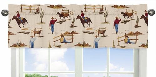 Wild West Cowboy Western Collection Window Valance by Sweet Jojo Designs - Click to enlarge