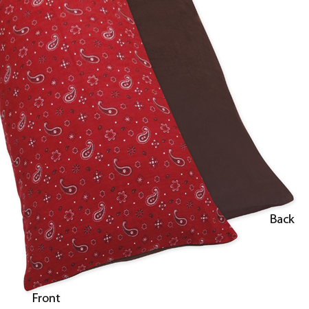 Wild West Cowboy Western Full Length Double Zippered Body Pillow Case Cover by Sweet Jojo Designs - Click to enlarge