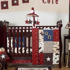 Wild West Western Horse Cowboy Baby Bedding - 9 pc Crib Set
