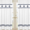 Window Treatment Panels for Anchors Away Nautical Collection - Set of 2