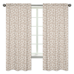 Window Treatment Panels for Giraffe Collection by Sweet Jojo Designs - Set of 2