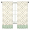 Window Treatment Panels for Gold, Mint, Coral and White Ava Collection by Sweet Jojo Designs - Set of 2