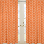 Window Treatment Panels for Orange and Navy Arrow Collection - Set of 2