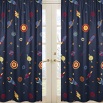 Window Treatment Panels for Space Galaxy Collection - Set of 2