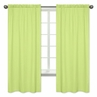 Window Treatment Panels for Turquoise and Lime Hooty Owl Collection by Sweet Jojo Designs - Set of 2