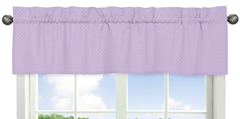 Window Valance for Purple and Brown Mod Dots Collection by Sweet Jojo Designs