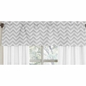 Window Valance for Yellow and Gray Chevron Zig Zag�Bedding Collection by Sweet Jojo Designs
