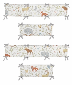 Woodland Animal Toile Baby Crib Bumper Pad by Sweet Jojo Designs