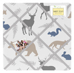 Woodland Animals Fabric Memory/Memo Photo Bulletin Board