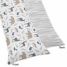Woodland Animals Full Length Double Zippered Body Pillow Case Cover