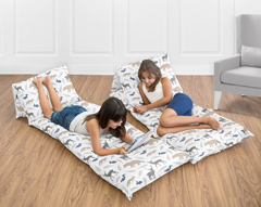 Woodland Animals Kids Teen Floor Pillow Case Lounger Cushion Cover by Sweet Jojo Designs