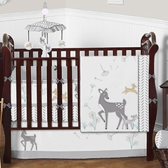 Woodland Deer Baby Bedding - 9 pc Crib Set