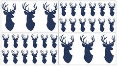 Woodland Deer Baby, Childrens and Kids Wall Decal Stickers by Sweet Jojo Designs - Set of 4 Sheets